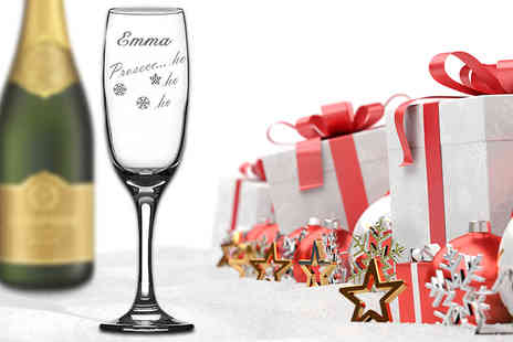 CNC Group - Personalised Prosecco Ho Ho Ho Christmas glass - Save 70%
