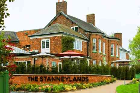 The Stanneylands Hotel - Overnight Cheshire stay for two with breakfast, dinner allowance and gin - Save 38%
