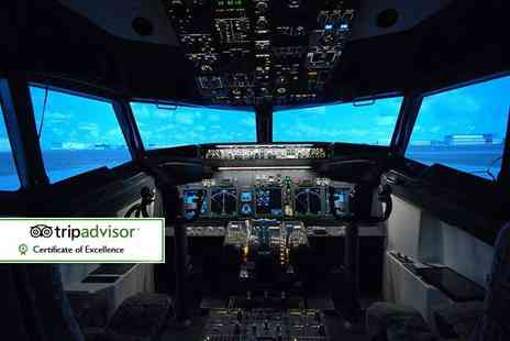 Jet Sim School - 30 minute flight simulation experience - Save 61%