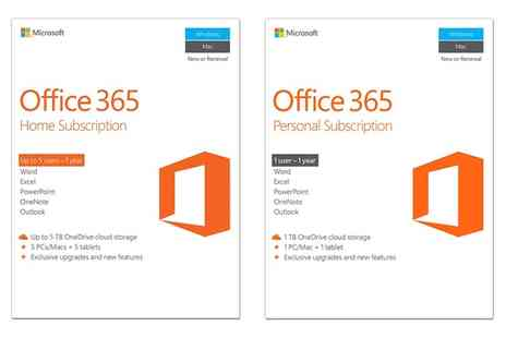 8keys - Microsoft Office 365 Personal or Home Subscription for One Year - Save 28%