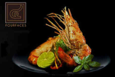 Four Faces - 2 course meal for 2 - Save 58%