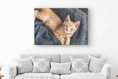 Printerpix - Personalised Canvas in a Choice of Size - Save 80%