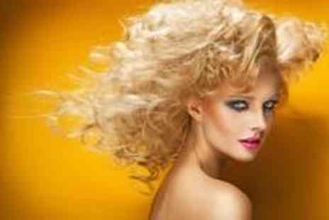 Hair Design - Full head of highlights or colour with a cut and finish and a conditioning treatment - Save 77%