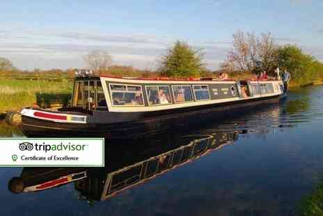 Norbury Wharf - Three hour canal cruise for two including fish and chips each, on the Shropshire Union Canal - Save 52%