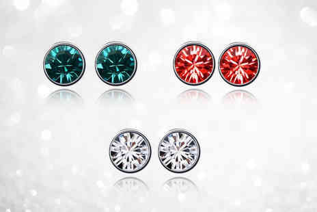 Fakurma - Colours of Christmas pack of 3 stud earring set - Save 85%