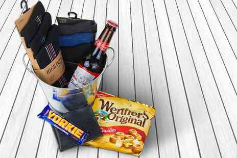 IQGB - Luxury Christmas hamper for him including a beer bucket, wallet, six pairs of socks and more - Save 62%