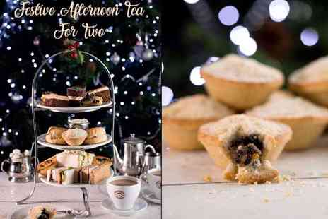 Patisserie Valerie - Festive afternoon tea for two or include a glass of Prosecco each- Save 21%