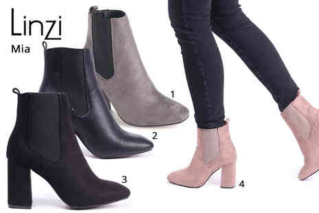 Linzi - Pair of classic ankle boots choose from eight style and colour options - Save 58%