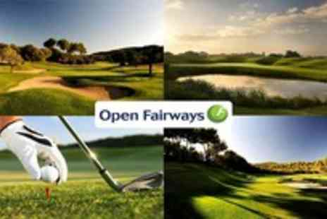Open Fairways - Give the 'gift of golf' with 12 months half price golf - Save 72%