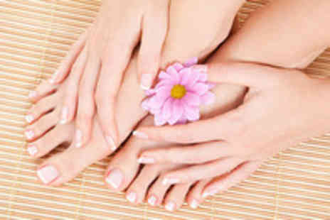 Beauty Lounge - Shellac French or colour manicure and a luxury spa pedicure - Save 70%
