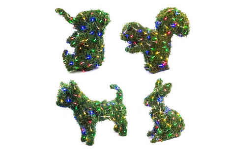 Internet Shop - 100 Led Artificial Christmas Topiary Animals Choose Four Designs - Save 64%