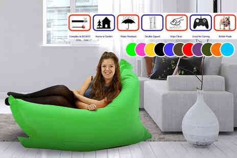 UK Beanbags - Large or extra large indoor and outdoor big brother beanbag choose from 11 colours - Save 83%