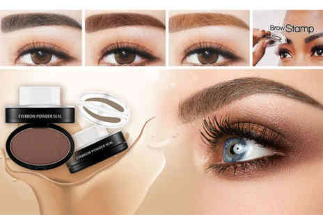 Alvis Fashion - Eyebrow stamp and powder set choose from three colours - Save 82%