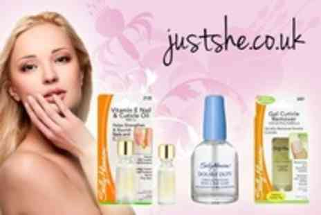 JustShe.co.uk - Two Sally Hansen Nail Treatment Set - Save 58%