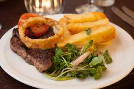Canteen - Steak and Chips for Two or Four with Glass of Wine - Save 31%