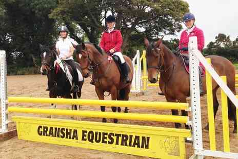 Gransha Equestrian - 30 or 60 Minute Riding Lesson for One or Two - Save 0%