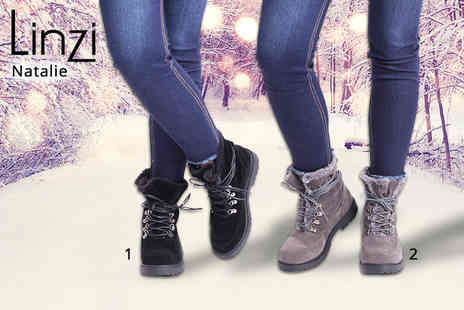 Linzi - Pair of womens winter lace up boots - Save 47%