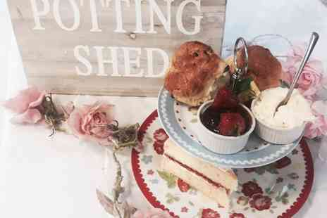 The Potting Shed - Cream Tea and Cake for Two or Four - Save 0%