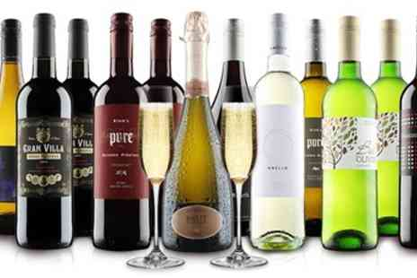 Virgin Wines Online - 12 bottles of wine red, white or mixed case - Save 62%
