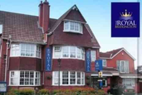 The Royal Bridlington - In Bridlington Two Night Coastal Break For Two in 4star Guest Accommodation With Breakfast - Save 60%