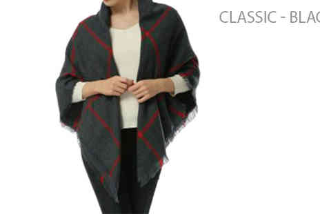 Pearl Info - Womens Oversized Winter Scarves Choose Two Styles - Save 62%