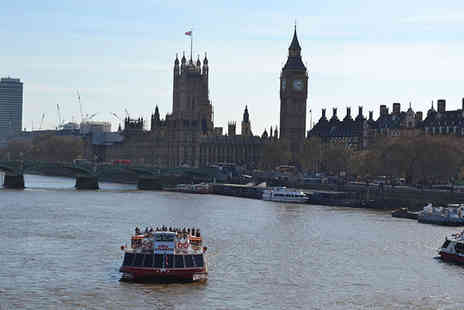 City Cruises - Thames cruise for two including a two course lunch and a glass of Prosecco - Save 51%