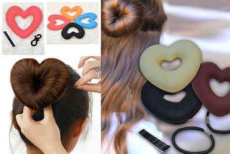 Alvis Fashion - Heart shaped hair donut - Save 87%
