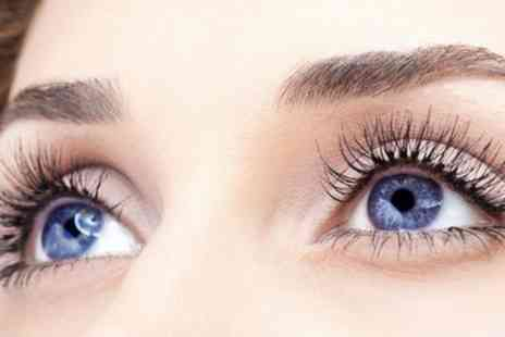 Gunns and Rollers Unisex Salon - Full Set of Silk Eyelash Extensions with Optional Eyebrow Wax and Tint - Save 52%