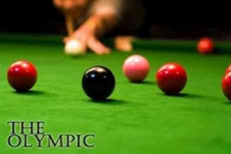 The Olympic - Pizza and Snooker Game For Two - Save 54%
