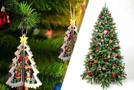 Alvis Fashion - Five 3D Christmas hanging tree pendants - Save 80%