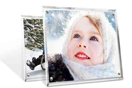 Printerpix - 7 Inch x 5 Inch or 9 Inch x 7 Inch Personalised Crystal Photo Frames - Save 56%