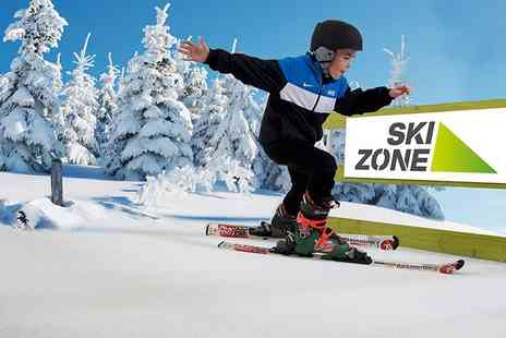 Skizone - Private junior ski or snowboard lesson for up to three - Save 34%