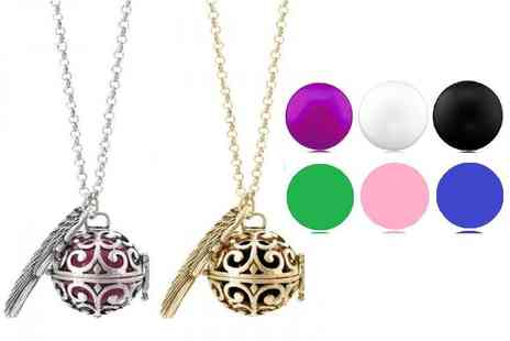 Fakurma - Guardian angel soundball necklace choose from twelve colour combos - Save 87%