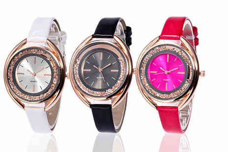 Alvis Fashion - Crystal watch - Save 89%
