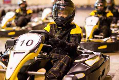Absolutely Karting Basingstoke - 30 Minute Karting Experience with Unlimited Laps and Pizza for Two, Four or Six - Save 0%