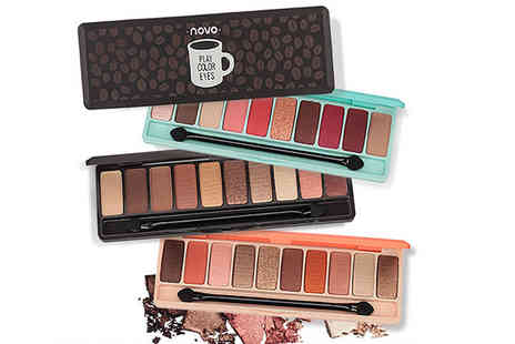 Alvis Fashion - Two 10 colour matte eye shadow palettes - Save 93%
