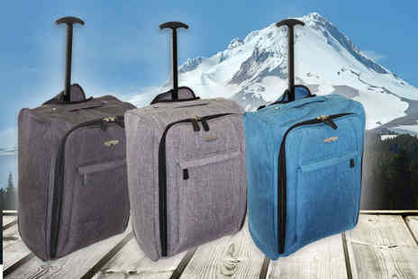 Pearl Info - Choice of cabin luggage choose from three fantastic colours - Save 82%