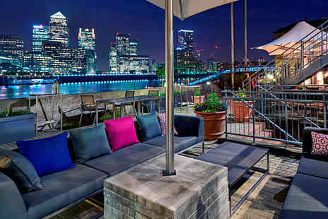 Doubletree by Hilton Docklands Riverside - Four Star Stylish Hilton by the River with Return Rail Journey For Two - Save 0%