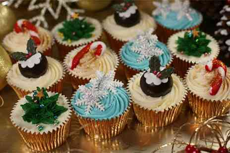 3D Cakes - 12 Luxury Christmas Cupcakes or 12 Luxury Non Festive Cupcakes - Save 71%