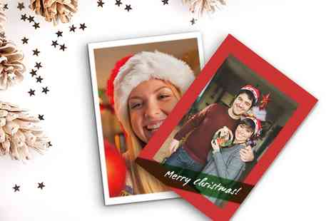 Printerpix - 5, 10, 20, 30 or 50 Personalised 5x7 Flat Christmas Cards - Save 69%