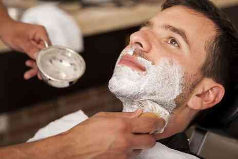 Gilroys Gentlemans Barber - Hot Towel Shave with Mens Cut and Finish or Massage and Facial - Save 50%