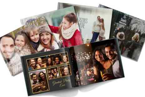 Printerpix - Up to Five Personalised A4 Hardback Photobooks with Up to 60 Pages - Save 96%