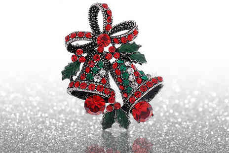 Alvis Fashion - Christmas bell brooch - Save 90%