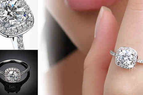 Alvis Fashion - Platinum Plated Zircon Ring - Save 90%
