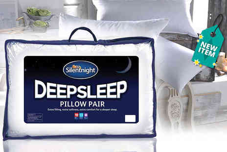 Chums - Silent Night Deep Sleep Pillow pack of two or four - Save 68%