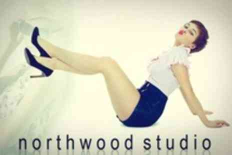 Northwood Studio - Vintage Pin up Photo Shoot With Makeover, Two Costume Changes and Print - Save 92%