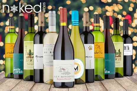 Naked Wines - Six or 12 bottle Christmas Early Bird mixed case - Save 52%