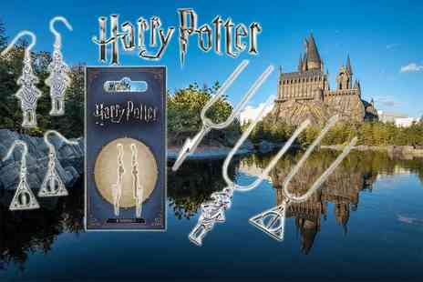 Aspire - Official Harry Potter jewellery, choose from a necklace or pair of earrings - Save 61%
