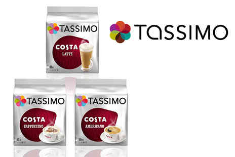 Euro Coffee Pods - Variety pack of 48 Tassimo Costa T Discs - Save 60%