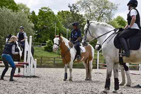 Trent Park Equestrian Centre - Horse Riding Experience with Hot Chocolate and Cake - Save 61%